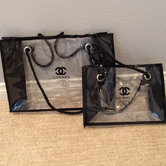 b2ba0957ed8b Bags | Chanel Beauty Perfume Makeup Tote Bag Set | Poshmark